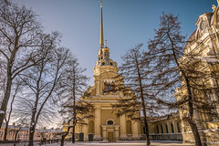 Saints Peter and Paul Cathedral (Tony_Brasier) Tags: icecold russia raw lovely location lights loving church cold nikond7200 sigma 1750mm saintpetersburg fantastic snow bluesky buildings