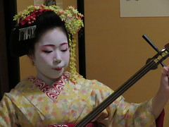 IMG_2329 (hattiebee) Tags: japan nara maiko kimono traditional shamisen instrument