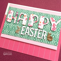 EO-happy easter-bergold (Eyelet Outlet) Tags: laurenbergold eyeletoutlet cards eastercards rabbitbrads bunnytape washitape brads handmade