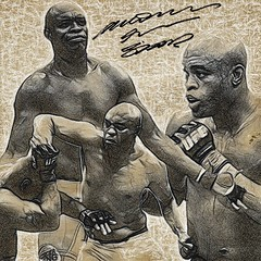 71 - Anderson Silva (Bob Smerecki) Tags: smackman snapnpiks robert bob smerecki sports art digital artwork paintings illustrations graphics oils pastels pencil sketchings drawings virtual painter 6 watercolors smart photo editor colorization akvis sketch drawing concept designs gmx photopainter 28 draw hollywood walk fame high contrast images movie stars signatures autographs portraits people celebrities vintage today metamorphasis 002 abstract melting canvas baseball cards picture collage jixipix fauvism infrared photography colors negative color palette seeds university michigan football ncaa mosaic