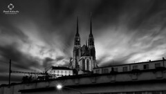 CATHEDRAL IN WINDY MOTION (savage_winner) Tags: blackwhite hdr holgate landscape brno cathedral summer wind evening sunset europe czechrepublic historical old building