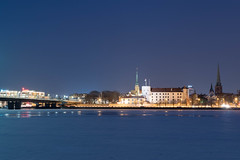 Nightview of Riga Castle (Jevgenijs Slihto) Tags: nightscape cityscape riga rīga latvija latvia night longexposure winter daugava river ice cold rigacastle rīgaspils d5600 nikon1855 city