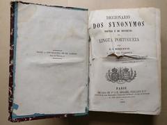 Diccionário de Synonymos, de 1863 (ACMateus) Tags: antiguidades coleccionismo velharias livro dicionário