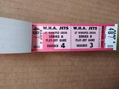 Winnipeg Jets Playoff Vouchers (vintage.winnipeg) Tags: winnipeg manitoba canada vintage history historic sports