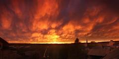 This sky is on fire ! / Y'a l'feu au ciel ! (Philippe Meisburger Photo) Tags: cloud clouds nuage nuages ciel light lumière march mars feu fire mammatus sunset coucher du soleil magic stunning epoustouflant villageneuf hautrhin august alsace grand est france europe philippe meisburger 2018