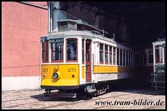 271-2003-05-03-1-Betriebshof (steffenhege) Tags: portugal porto tram tramway eléctricos strasenbahn streetcar stcp stpc271 271 brill