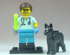 Brick Yourself Custom Lego Figure Jedi Surgeon with Black Lab