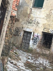 """Abandoned Vilnius"" series ... part 1 (journo_bouy) Tags: stateless state vilnius homeless home building crumbling dark steel bars art graffiti shadow abandoned"