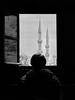 Window (markb120) Tags: turkey istanbul byzantium religion faith mosque islam building architecture weather landscape scenery view scene paysage minaret sky clouds window casement gap light bw arab muslim
