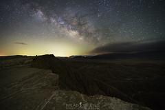 Lighting up the Badlands (ihikesandiego) Tags: anza borrego badlands fonts point desert night sky milky way