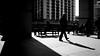 Shadow Walker (Sean Batten) Tags: london england uk canarywharf docklands eastlondon ricohgr blackandwhite bw streetphotography street city urban light shadows people