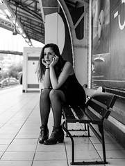 Métro Dupleix (Nathanaël Photo) Tags: 75015 cheveuxlongs collant france gala modèle métrodupleix paris parisbyelles robe uneseulefemme