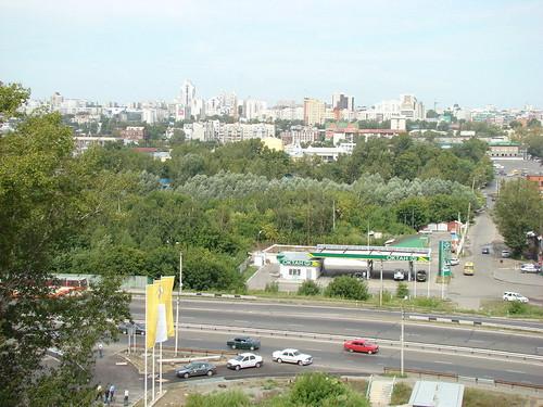 Вид на Барнаул с горы