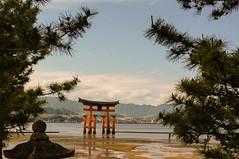 Japon - Miyajima (marianorojas1998) Tags: asia japón miyajima nex6 sony agua cielo isla santuariodeitsukushima torii