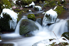 Monbachtal, Bad Liebenzell (hundertblumen) Tags: monbachtal badliebenzell eis wasser water longexposure