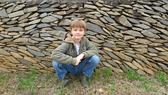 greenrockfencea (FAIRFIELDFAMILY) Tags: jason taylor carson greenbrier school winnsboro fairfield county sc south carolina granite wall fence building architecture design historic child boy young outside exploring explore michelle ralph lauren barn coat jacket vintage old barbour waxed english easter bunny costume father son train rail railroad gene baughman darren long roddy column tim mccarty nick depace 50 birthday party reunion