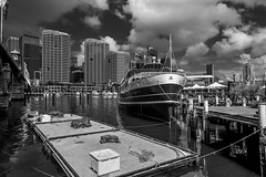 DSC00505 (Damir Govorcin Photography) Tags: ss south steyne steam ferry docked darling harbour sydney blackwhite monochrome sony a7ii zeiss 1635mm clouds natural light architecture