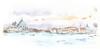 Venezia, Santa Maria della Salute en Canal Grande vanop de Riva Cà di Dio, Italia (Linda Vanysacker - Van den Mooter) Tags: venezia santamariadellasalute canalgrande rivadeglischiavoni watercolorwatercolourvisiblytalentedvanysackervandenmootertekeningsketchschetspotloodpencillindavanysackervandenmooterlindavandenmooterdrawingdessincroquiscrayonartaquarelleaquarellaquarelakvarellacuarelaacquerello venice venetië 2017 rivacàdidio