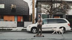 Good Companion (little_stephy0925) Tags: vancouver bc britishcolumbia canada mainstreet hillcrest hillcrestcommunitycentre fujifilm fuji fujixt2 fujifilmxt2 xt2 fujinonxf23mmf14 xf23mmf14 mirrorlesscamera classicchrome streetphoto explorebc goodcompanion skateboarder travelbuddy panning streetphotography dog
