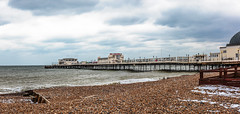 Worthing Pier (PhredKH) Tags: architecture beach canonphotography coastalbritain fredkh photosbyphredkh phredkh pier southcoast splendid worthing worthingpier cloudysky outdoorphotography outdoors sea seascape shore sky snow 2470mm ef2470mmf4lisusm canoneos5dmarkiii
