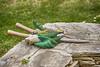 gardening stuff (@Katerina Log) Tags: garden stuff gloves outdoor green daylight object tools macro sonyilce6500 105mmf28 katerinalog nature natura grass bokeh depthoffield