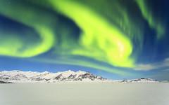 Green sky-beast (georgemoga) Tags: aurora auroraborealis iceland mountain night northernlights sky snow stars easternregion is