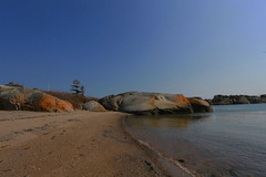 Seaside (annemwo) Tags: sea seaside coast sand beach april ula norway nature rock