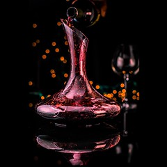 Decanter at night (chefderekbissonnette) Tags: mainechef maine foodphotographer decanter wine foodart sommelier foodphotography