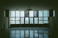 (homesickATLien) Tags: 35mm film kodak art expired analog travel mjuiii olympus asia myanmar burma palace mandalay reflection royal window expression peace harmony burmese solitude