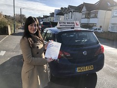 Congratulations Ambar De Gouveia passing her practical test with an excellent performance and only 4 minor faults!   www.leosdrivingschool.com