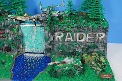 Tomb Raider: (Brick.Ninja) Tags: lego tomb raider laura croft movie video game playstation world war plane tank adventure river waterfall trees eviroment