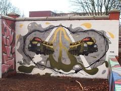 Hot Dog Transporter (mkorsakov) Tags: dortmund nordstadt hafen graffiti wand wall legal halloffame moc character ais