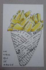 Défi dessin jour 17: un truc qui se mange (mmarple62) Tags: défidessin drawingchallenge chips frites