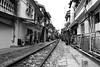 Hanoi center - railway (Didhle) Tags: vietnam hanoi metropole sofitel colony french railway train black white street asia southeastasia nb