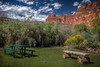 Capitol Reef National Park (donnieking1811) Tags: utah saltlakecity capitolreefnationalpark fruita nationalpark table bench mountains trees outdoors sky clouds blue hdr canon 60d lightroom photomatixpro