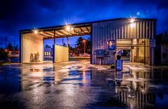 Carwash reflections (Manuela Durson) Tags: car carwash night nightphotography nighttime rain rainy reflections business port orford urban city lights