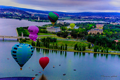 View over Canberra (Theresa Hall (teniche)) Tags: 2018 australia canberra canberraballoonspectacular canberraballoonspectacular2018 canberraphotographer davidmaynard goballooning mcgrathfoundation mitchellmark teniche theresahall balloon balloons flying flyinghigh hotairballoon hotairballoons viewfromabove lake lakeburleygriffin flight