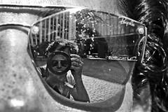 Selfportrait at the MASP (alestaleiro) Tags: masp sp são paulo brasil mono monochrome monocromo bw pb bn eliana reflection reflejo óculos anteojos gafas sunglasses alestaleiro city museum ciudad urbano