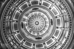 Breaking At The Speed Of Life (DetroitDerek Photography ( ALL RIGHTS RESERVED )) Tags: allrightsreserved detroitderek lansing interior inside dome circle round monochrome bw blackandwhite canon 5d mkii digital architecture beauty march 2018 hdr 3exp eos