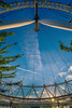 Under The Eye (Claude Downunder) Tags: london uk unitedkingdom britain england londoneye eye ferriswheel attraction sunset sky blue towering ride tree lines