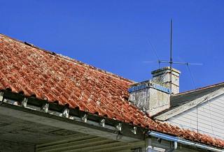 Tile Roof, Rusty (looking)
