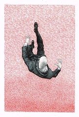This Is Gregory, Falling (LenCowgill) Tags: len cowgill art drawing mixed media falling