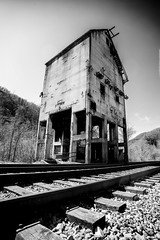 Coaling Tower (JCTopping) Tags: 6d ghosttown thurmond 19mm coal tower train westvirginia canon blackandwhite newriver unitedstates us