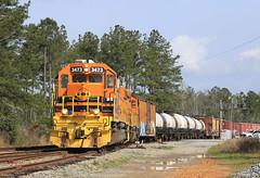 Day Time Hilton Crew (GLC 392) Tags: bayl bayline bay line hal ha hilton albany emd sd402 ga georgia railroad railway train 3473 3352 tree gw genesee wyoming inc