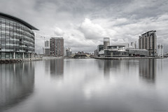 The ever developing Quays (andyrousephotography) Tags: salfordquays lowrytheatre alchemist bbc mediacityuk manchestershipcanal canal northbay detroitbridge huronbasin nvbuildings longexposure leefilters 06medndgrad littlestopper 6stops batterthequays