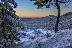 Winter wonderland (Dan Österberg) Tags: bergen norway landscape winter wonderland evening sunset snow lake cold forest woods north scandinavia outdoors hike hiking
