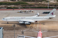 Qatar Amiri Flight A340-200 A7-HHK 002 (A.S. Kevin N.V.M.M. Chung) Tags: aviation aircraft aeroplane airport airbus airlines qatar a340 a340200 mfm macauinternationalairport apron sunny cloudy vip