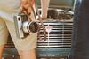 When old machines meet (winogrono_w_oku) Tags: film analog analogue klisza agfa xrg camera vintage retro ford taunus 1964 1960s jeans helios praktica werra carlzeiss