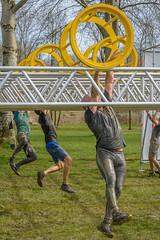 hanging on (stevefge) Tags: 2018 berendonck gelderland strongviking viking mud nederland netherlands nl nijmegen nederlandvandaag reflectyourworld yellow people candid sport endurance