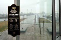 Titanic Museum in Belfast, Northern Ireland (mattk1979) Tags: belfast northern ireland unitedkingdom titanic museum building shipyard harlandandwolff sign
